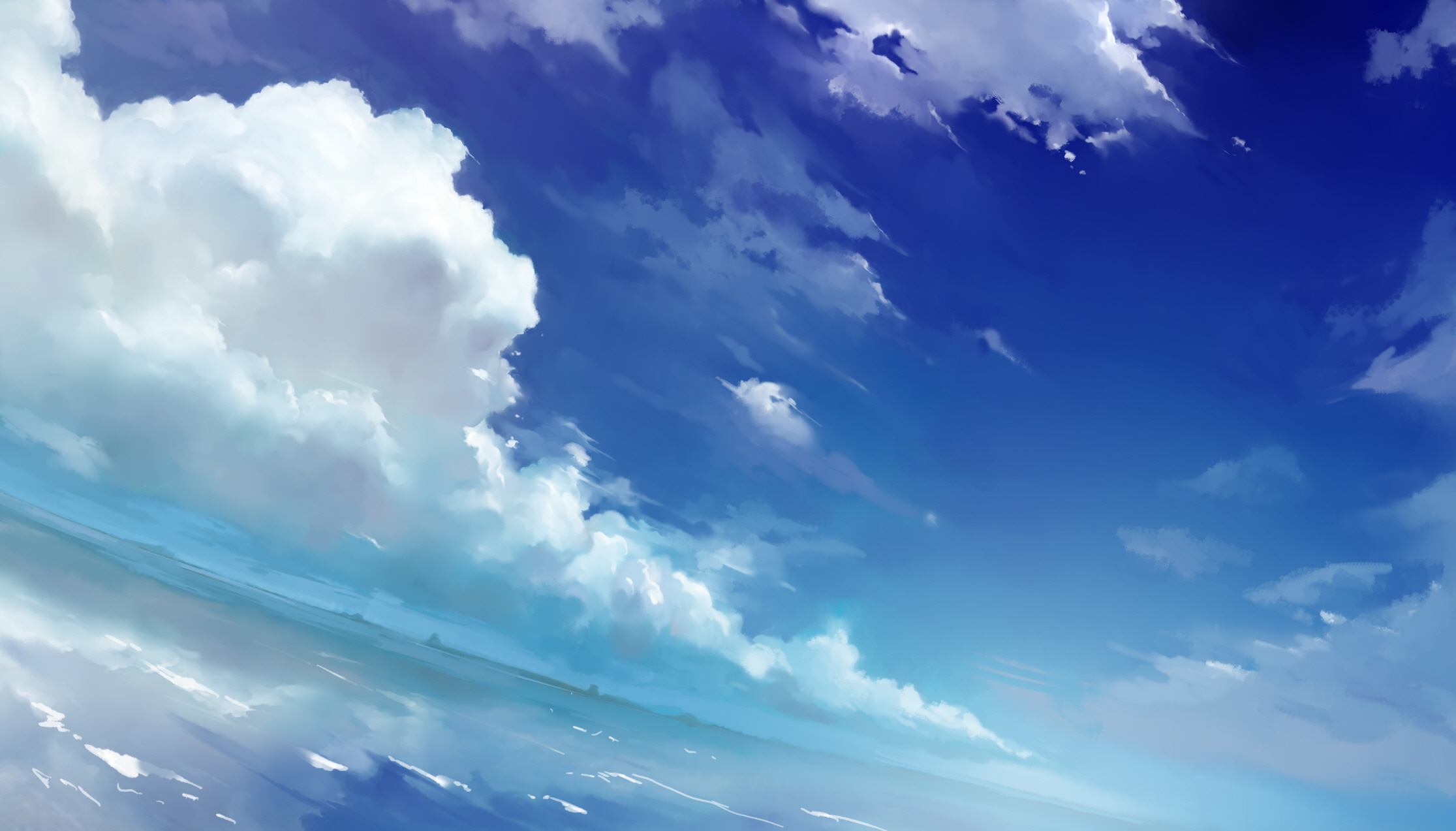 51390 anime scenery anime sky and clouds